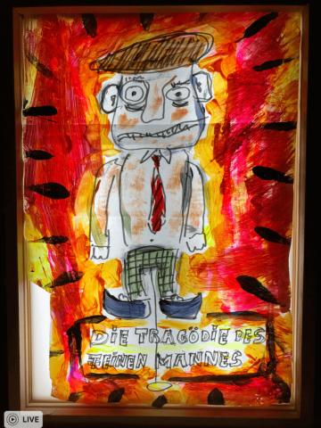 Acryl auf Papier im Leuchtkasten, 30 x 40