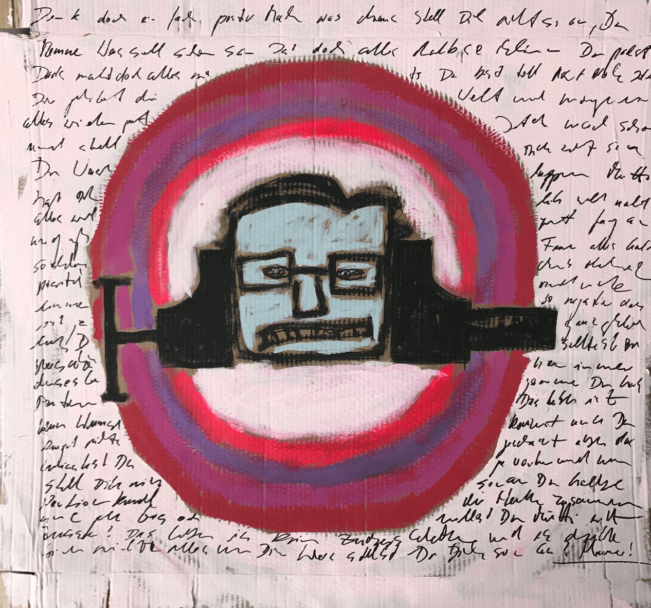 Acryl auf Pappe, 100 x 110